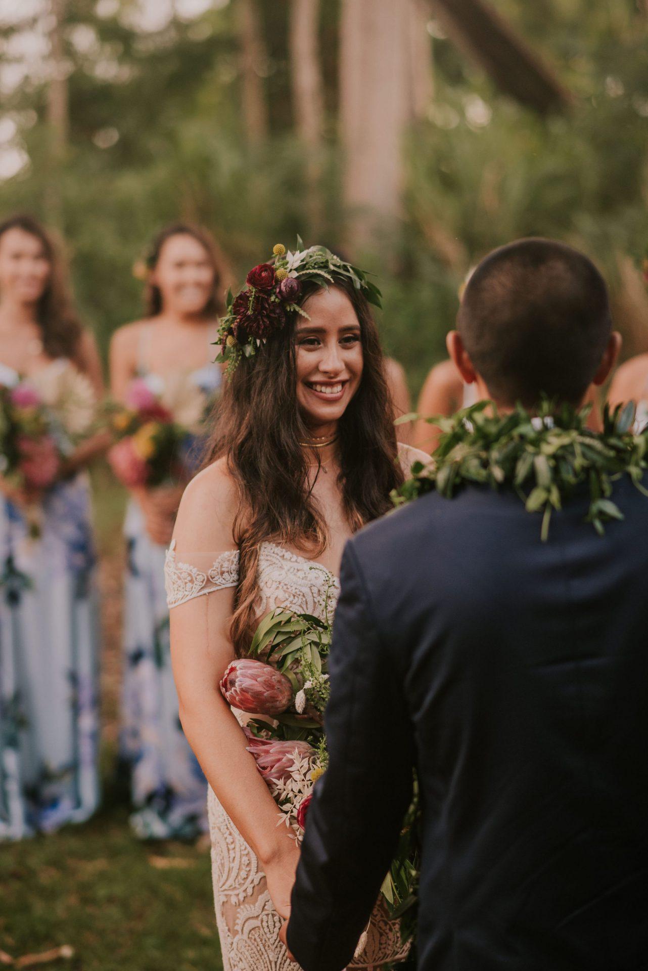 Kalee in the Tara Lauren Winslow lace bridal gown