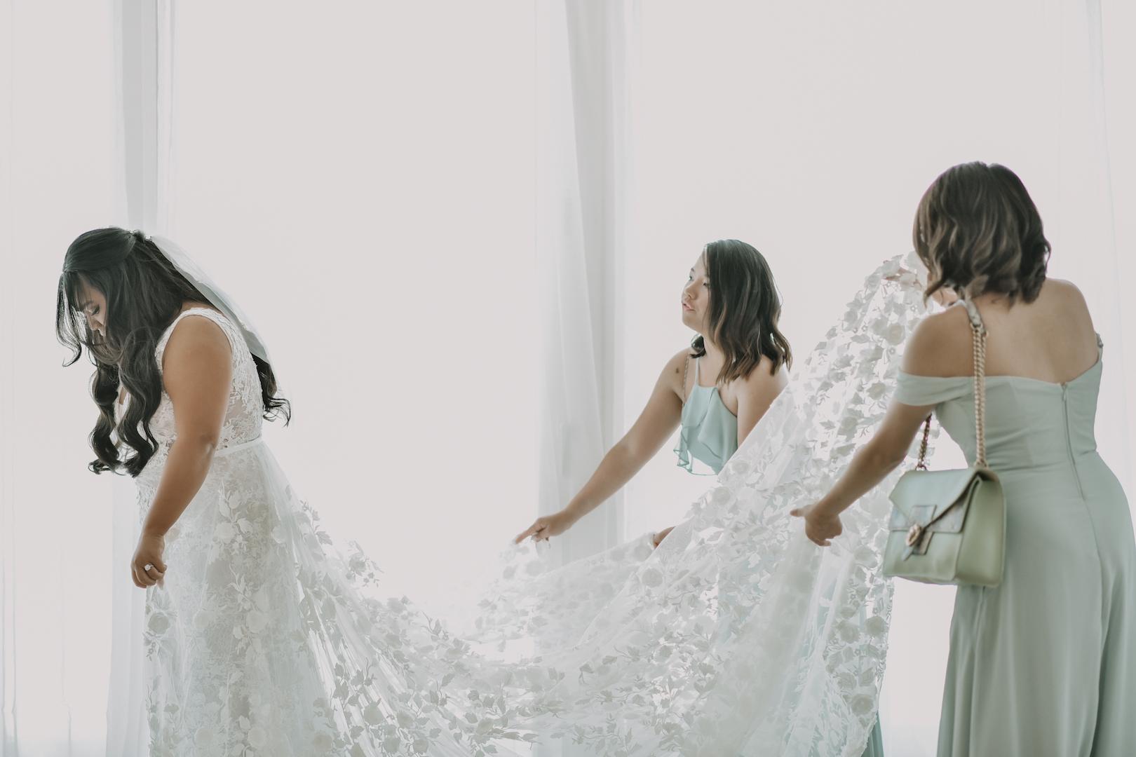 Celine in the Tara Lauren Montgomery Bridal Gown